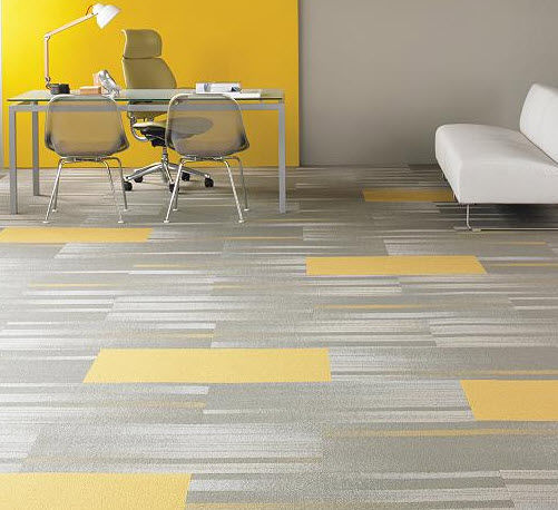 yellow carpet tiles gallery