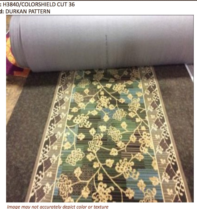 carpet 15 foot wide. 36 oz hallways - 15 wide with attached pad. $8.99 yd. carpet foot
